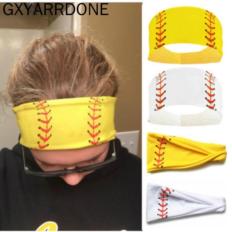 Softball Sports عرق رباطات البيسبول للفتيات اليوغا النساء اكسسوارات للشعر المطبوعات bandannas تشغيل واسعة البيسبول هيرمان