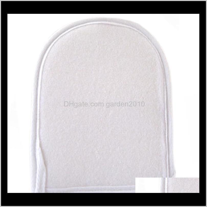 Brushes Sponges Scrubbers Exfoliating Natural Mitt Back Brush Loofah Gloves Scrubber For Shower Bath 15X20Cm Dbtpe Qlbcz