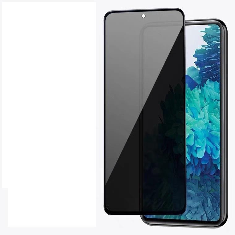 Anti-espía Privacidad Tapa completa Protector de vidrio templado de seda impresa para Samsung Galaxy A21 A21s Note 20pcs / lot