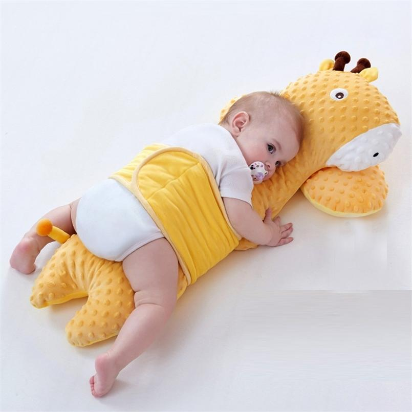 Baby Soothing Pillow Doll Plush Toy Children's Sleeping Pillows born Soft Baby Bed Bumper Crib Pad Protection Bedding Cushion 210924