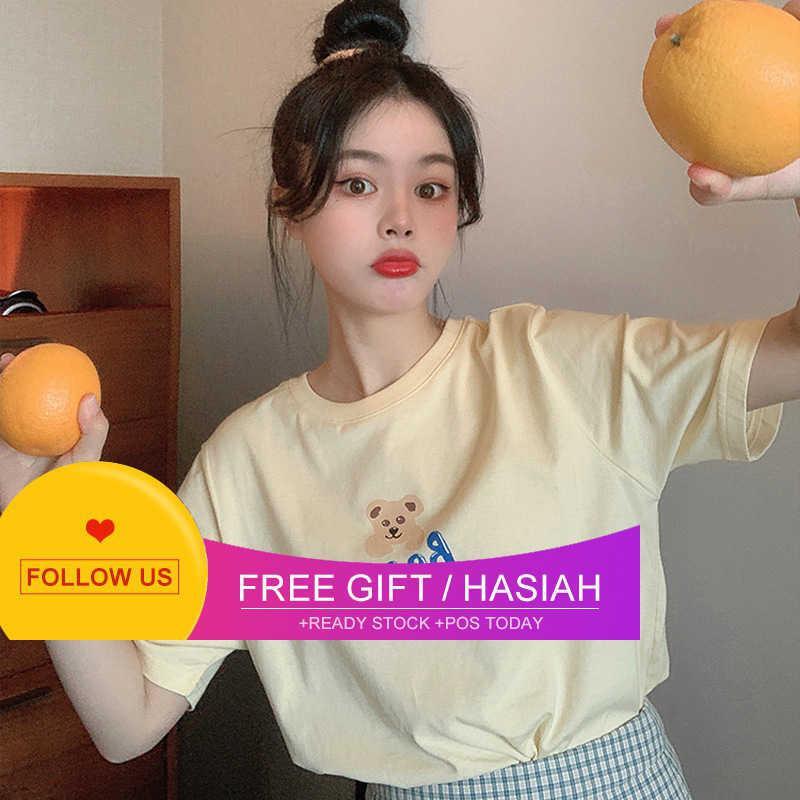 Dente dente dente dente oca tigre giallo creativo cartoon orso lettera lettera manica corta t-shirt da donna nuovo coreano sciolto