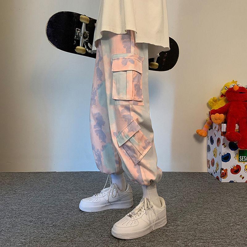 패션 망 캐주얼 힙합 위장 느슨한화물 조깅 앵클 하렘 스포츠 바지 바지 남성 streetwear 멀티 포켓 남자