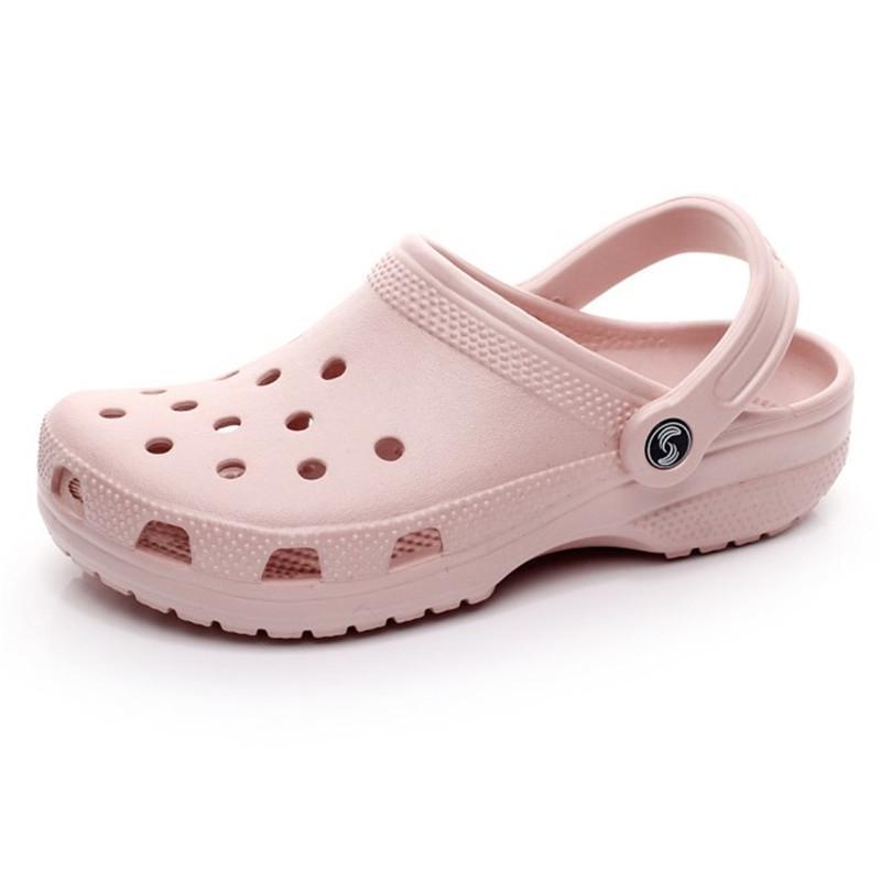 163hotsale moda sandalet gündelik plaj üzerinde kayma su geçirmez ayakkabı erkekler klasik hemşirelik takunya hastane kadın terlik iş tıbbi