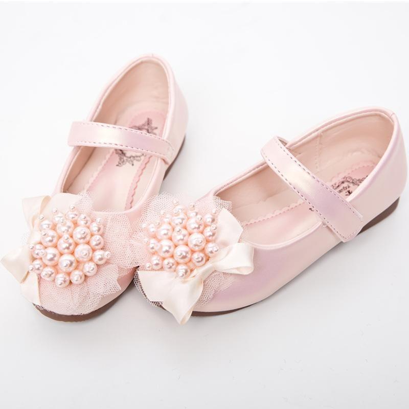 Sneakers 2021 Autumn Girls Single Shoes Children Non-slip Wear-resistant Student Performance Princess Dance Baby Kids
