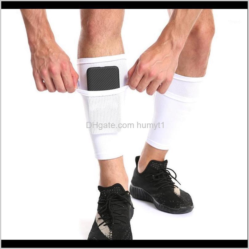 Dirsek Diz Koruyucu Çorap Cep ile Futbol Futbol Pedleri Bacak Kollu Shin Pad Çocuklar Yetişkin Destek Socks1 MUI99 YHCXR