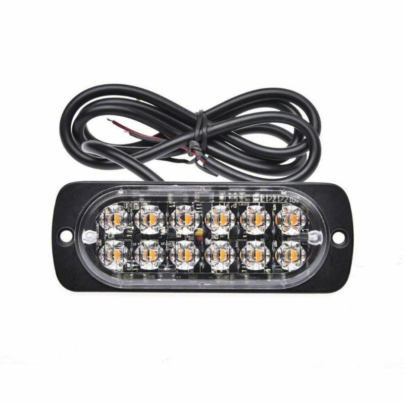4 STÜCKE 12 Strobe LED für Bernsteingefahren Beacon Not-blinkende Seitenmarkierer Lichtstangen Blinker Blinkleuchten