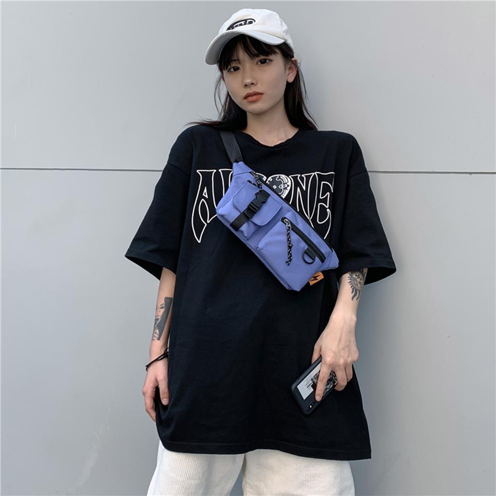 2021 Vintage Massivfarbe Schulter Crossbody Tasche Frauen Multi Layer Brust Taille Packs Outdoor Sports Paket Brieftasche Mobiltelefon Tasche