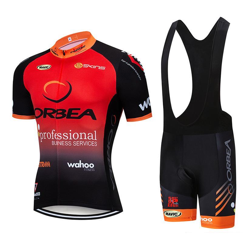 2021 Equipe Red Ciclismo Jersey Bike Shorts 20d Bib Set Ropa Ciclismo Mens MTB Verão Pro Bicycling Maillot Vestuário
