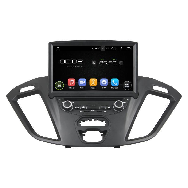 """플레이어 Klyde 8 """"6 코어 PX6 Android 9.0 자동차 DVD Transit Custom 2021 라디오 1024 * 600 멀티미디어 1 DIN 오디오"""