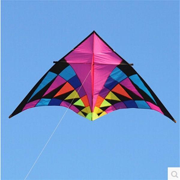 جودة عالية كبيرة دلتا طائرة ورقية تحلق لعب ripstop النايلون الرياضة بكرة التنين cerf volant المظلة الأخطبوط Y0616
