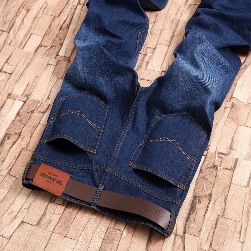 Herbst dünne gerade Jeans Slim Business Jugend Koreanische Mode Große Hosen Männer Lose Fit