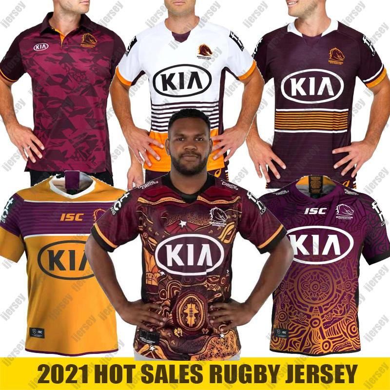 2021 Nouveau Brisbane Broncos Jersey Brisbane Broncos Anzac 20 21 Hommes Jériers autochtones Australie NRL Rugby League Taille S-5XL