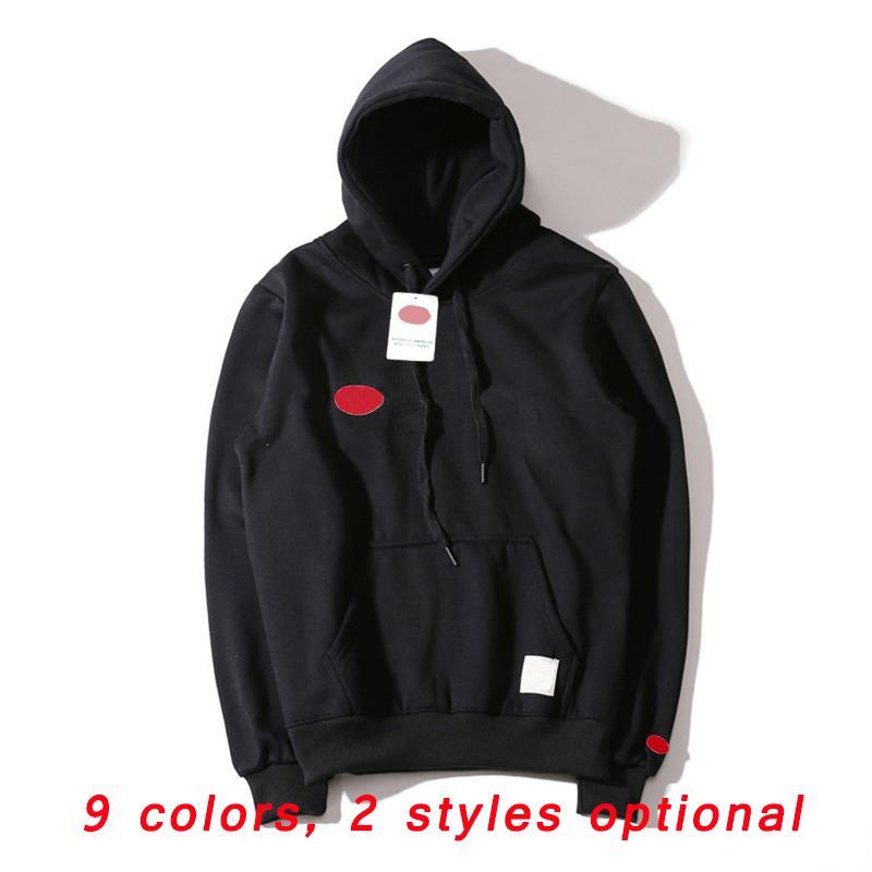 Erkek Moda Hoodie Erkek Kadın Spor Mektup Nakış Kazak Asya Boyutu S-XXL 9 Renkler Kalın Hoodies Kazak Uzun Kollu Streetwear 2021