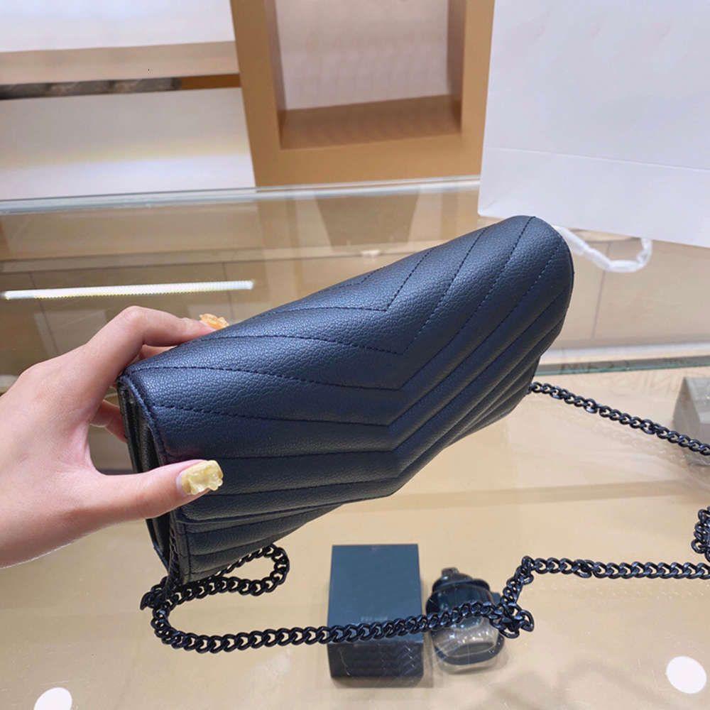 Borsa Borsa in vera pelle viene fornito con una scatola WOC Chain Women Lussurys Designer Femmina frizione Classic Girl di alta qualità