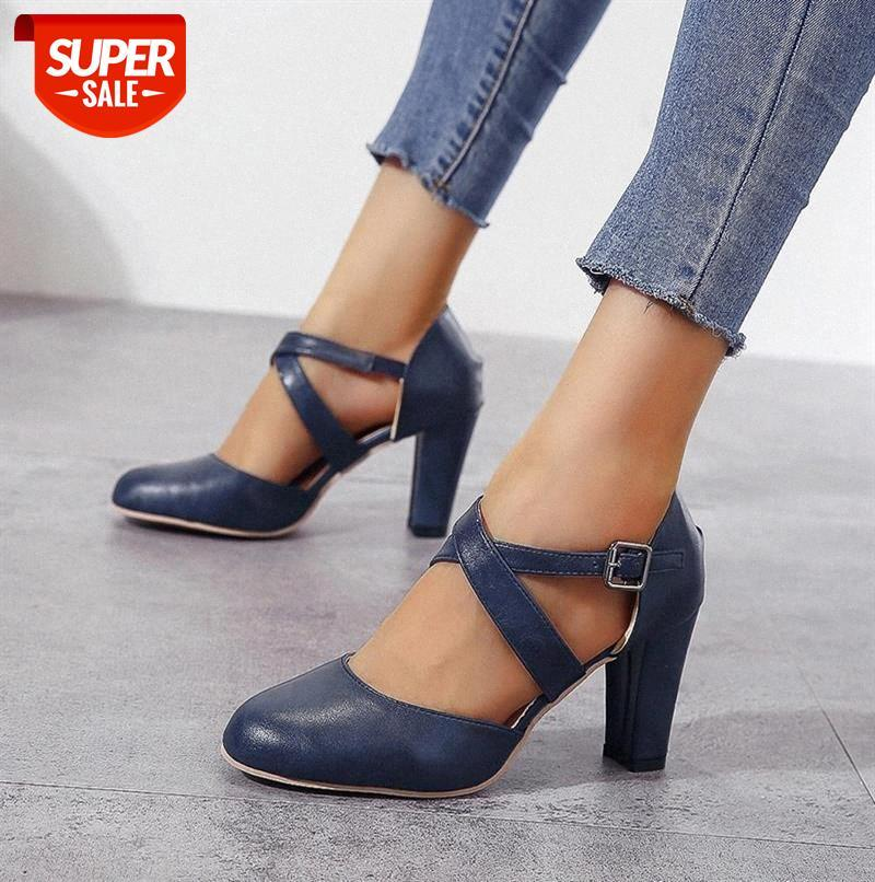 2020 New Roma Pumps Women Sandals High Heels Ankle Strap Summer Hemp Buckle Casual Slip-on Shoes Plus Size 43 #FA2Y