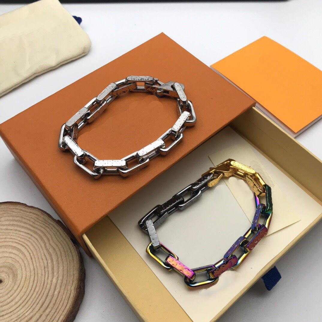 Lüks Manşet Unisex Bilezik Moda Bilezikler Erkek Kadın Tasarımcı Takı için 3 Model Kanal kutusu ile isteğe bağlı