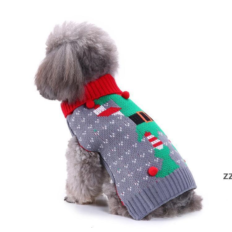 15 Stili Pet Dog Santa Costumes Abito di Natale Cappotti Divertente Partito Decorazione delle vacanze Vestiti per Felpe con cappuccio per animali domestici HWA7499