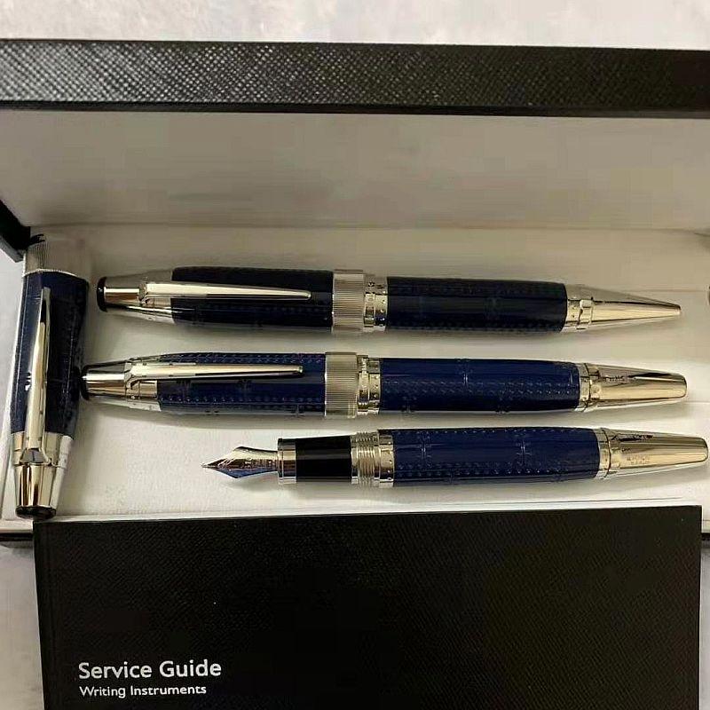 جودة عالية أسود - أحمر - الراتنج الأزرق والرأس المعدنية الكرة قلم مكتب القرطاسية الخط القرطاسية الحبر