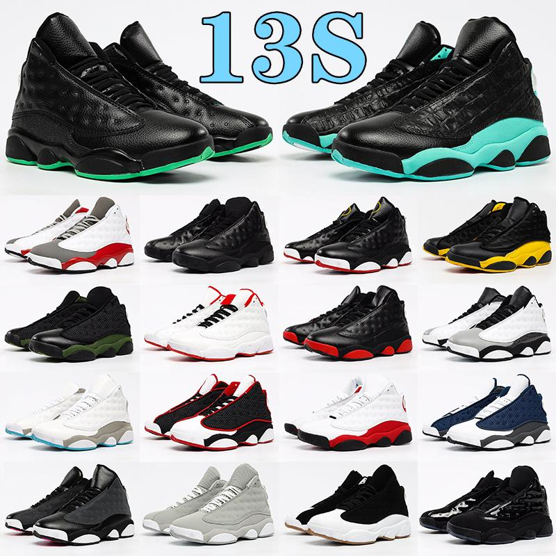 Air Jordan 13 13s Chaussures de basket-ball Del Sol Gold Obsidienne Flint Femmes Femmes Entraîneurs Jumpman Retro Jorden Hyper Royal Royal Reverse Bred Court Violet Sneakers