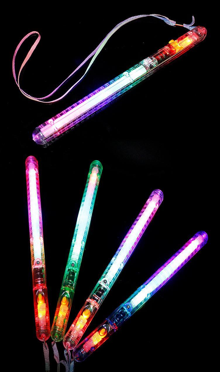 Manufacturers concert glow wholesale electronic rainbow LED large glow sticks colorful glow sticks Flashing