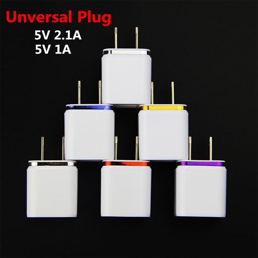 USB Зарядное зарядное зарядное устройство US Plug 2.1a Адаптер питания Зарядные устройства 2 Порты для Android iOS Смартфоны