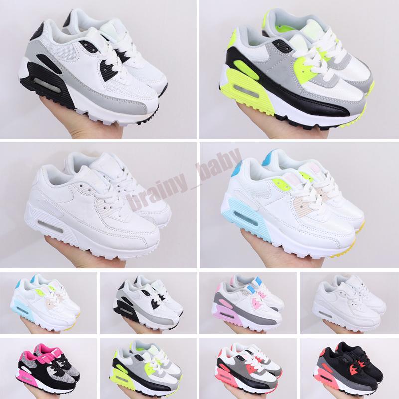 Niños zapatillas de deporte 90 zapatillas para correr niños negro atlético negro rosa bebé zapatillas infantiles niños deportes chicas niños