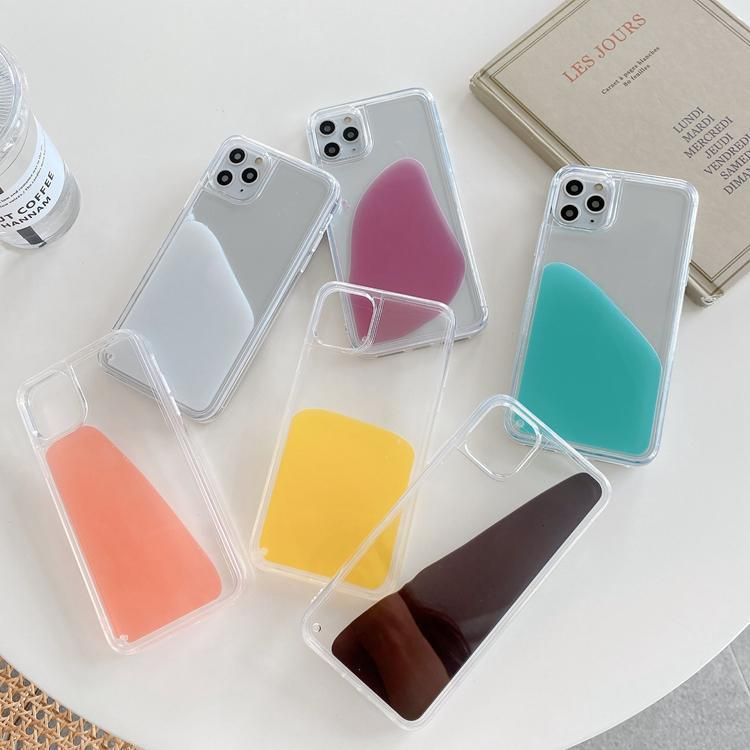الأزياء حلوى السائل الحالات الهاتف الحالات الهاتف لفون 12 11 برو ماكس XS XR 8 7 6 زائد مصمم شفافة الغطاء الخلفي