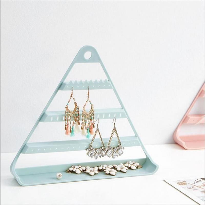 المنزلية متعددة الطبقات مثلث أقراط تخزين رف الرف شنقا حامل حامل قلادة عرض الحقائب مجوهرات المنظم، أكياس
