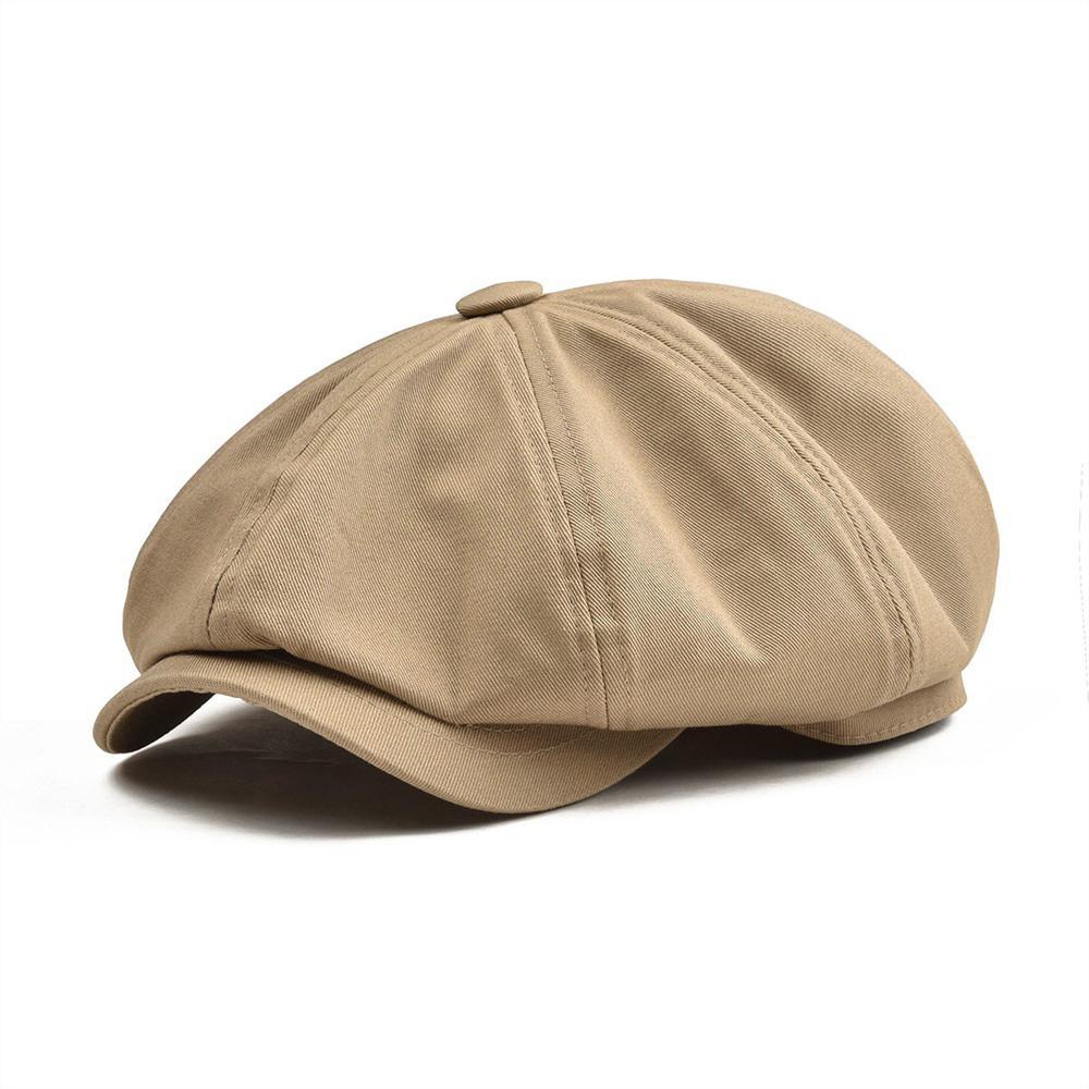 BOTVELA كبير كبير Newsboy كاب الرجال حك القطن ثمانية لوحة قبعة المرأة بيكر الصبي كبس الكاكي الرجعية القبعات الذكور boina beret 003