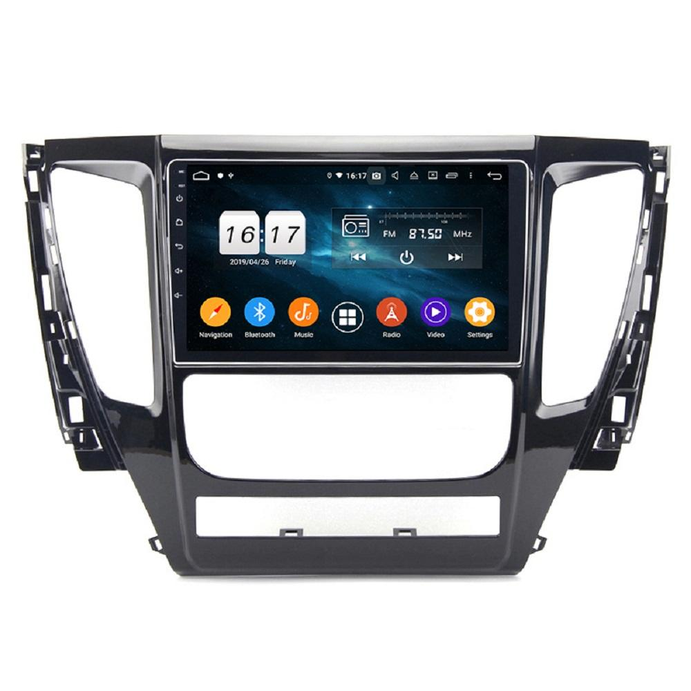 "4GB + 128GB PX6 9 ""Android 10 자동차 DVD 플레이어 Mitsubishi Pajero Sport 3 2017-2019 DSP 스테레오 라디오 GPS 네비게이션 블루투스 5.0 WiFi Easy Connect"