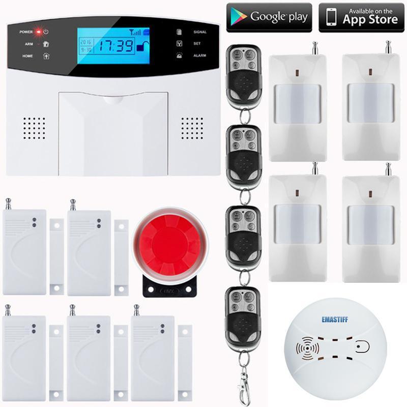 Tastiera RU / SP / EG Voice SMS wireless SMS Home GSM Sistema di allarme Casa Intelligent Auto Burglar Porta Sistemi di sicurezza