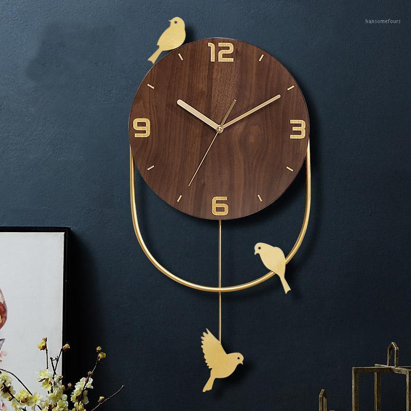Hoshine DIY 의류 조류 벽 시계 시계 현대 Horloge 무릴 디자인 현대적인 홈 장식용 Klok