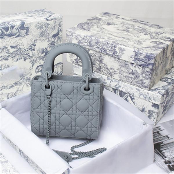 2021 Klassische Must-Have-Dame Elegante Taschen Modische Schulter Diamant Gitter Handtaschen Echtes Leder Frauen Multicolor Totes Crossbody Bag