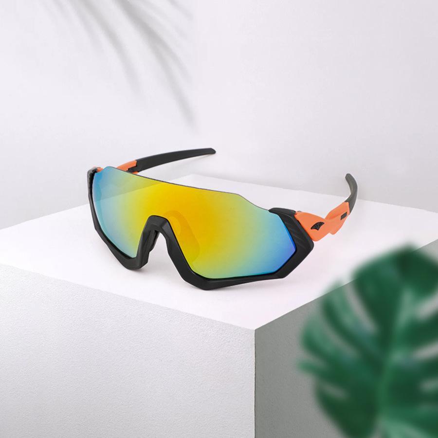 Gafas deportivas de ciclismo al aire libre medio marco Equitación integrada Gafas de sol A prueba de viento a prueba de viento 9317 X7ME