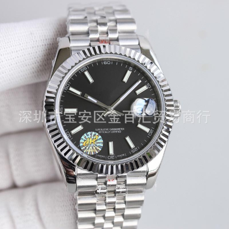 Laojia Men's Automatic Mechanical Watch Calendar Business Grade And Women's Oyster Type Steel Belt Band Wristwatches
