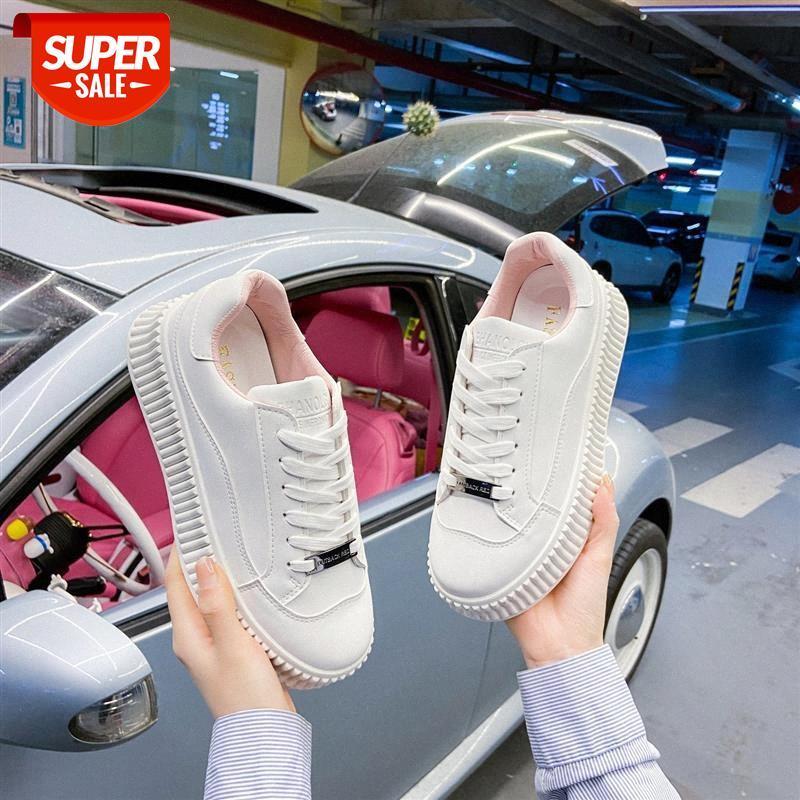 Biscotto Piccole scarpe bianche da donna Piattaforma primaverile Casual Studenti coreani Sport Tide Brand # DQ6B