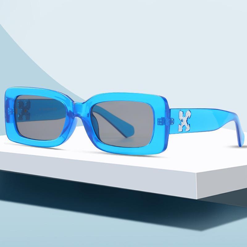 Gafas de sol de rectángulo del rectángulo de verano de la primavera Mujeres de la marca de la marca de la vendimia Hombres de los hombres de las gafas de sol para las tonos femeninos UV400 Oculos
