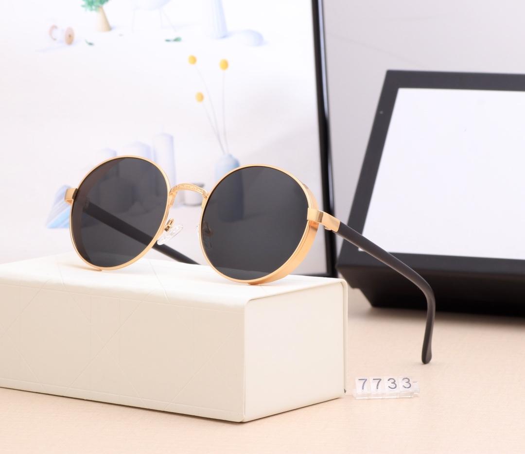 Classic Round Sunglasses Design del marchio Design UV400 Uomo Donne Donne Donne Specchio Designer di Prestigio Occhiali da sole Occhiali da sole Polaroid Lens Ciclismo Guida occhiali da Sole Alta qualità