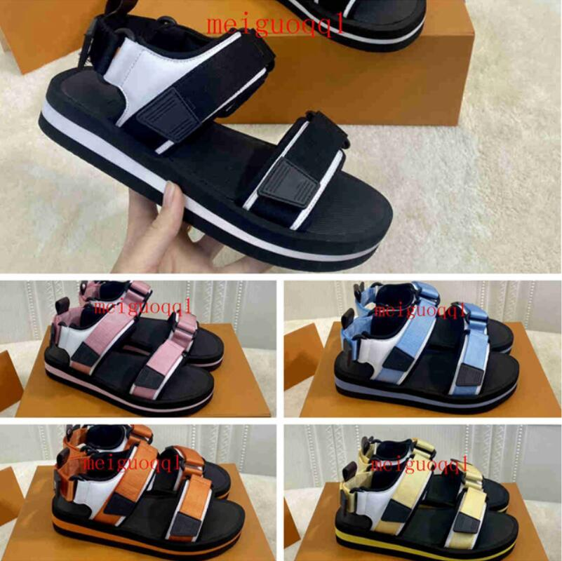 2021 Luxus Damen Sandalen Designer Casual Schuhe Sommer Outdoor Beach Damen Marke Flip Flop Hohe Qualität Plattform Shoe's Arcade rutschfeste flache Sneakers 34-42