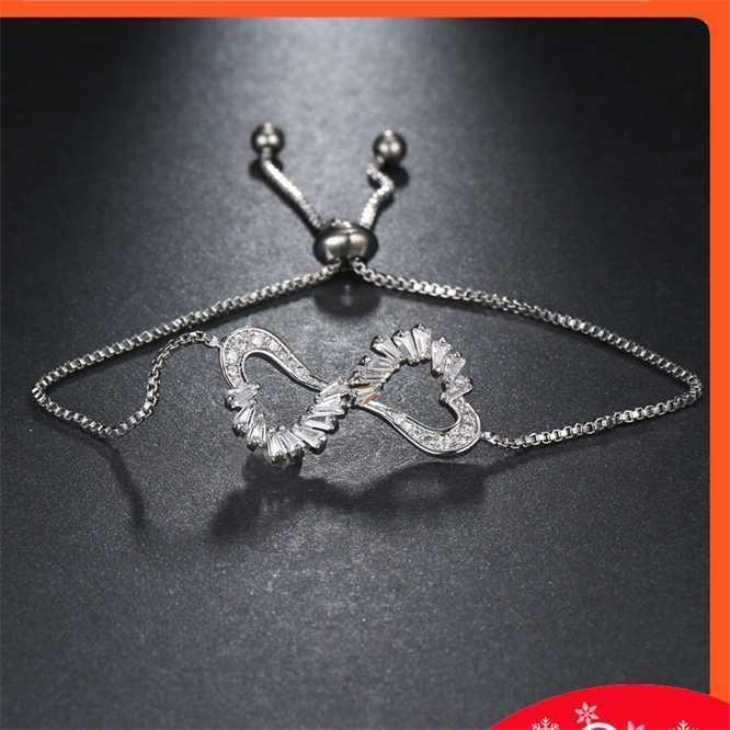 Moda dupla colar de amor e cadeia de cadeia de pêssego do estudante de pêssego pingente de jóias coreanas pulseira de clavícula