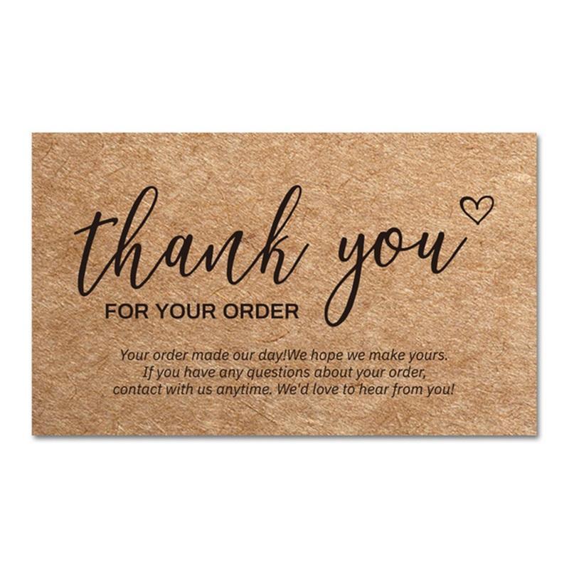 Danke Bestellkarten Kraftpapierprodukte Dank Karten-Wertschätzung Cardstock-Kaufeinsätze, um den kleinen Geschäftskunde zu unterstützen GWA7598