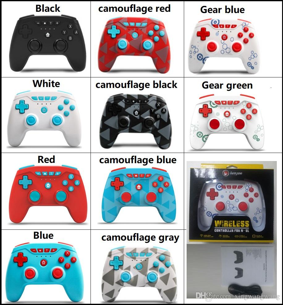 تحكم لعبة لاسلكية ل N-SL / Switch Pro / PS3 عصا التحكم مع حزمة البيع بالتجزئة