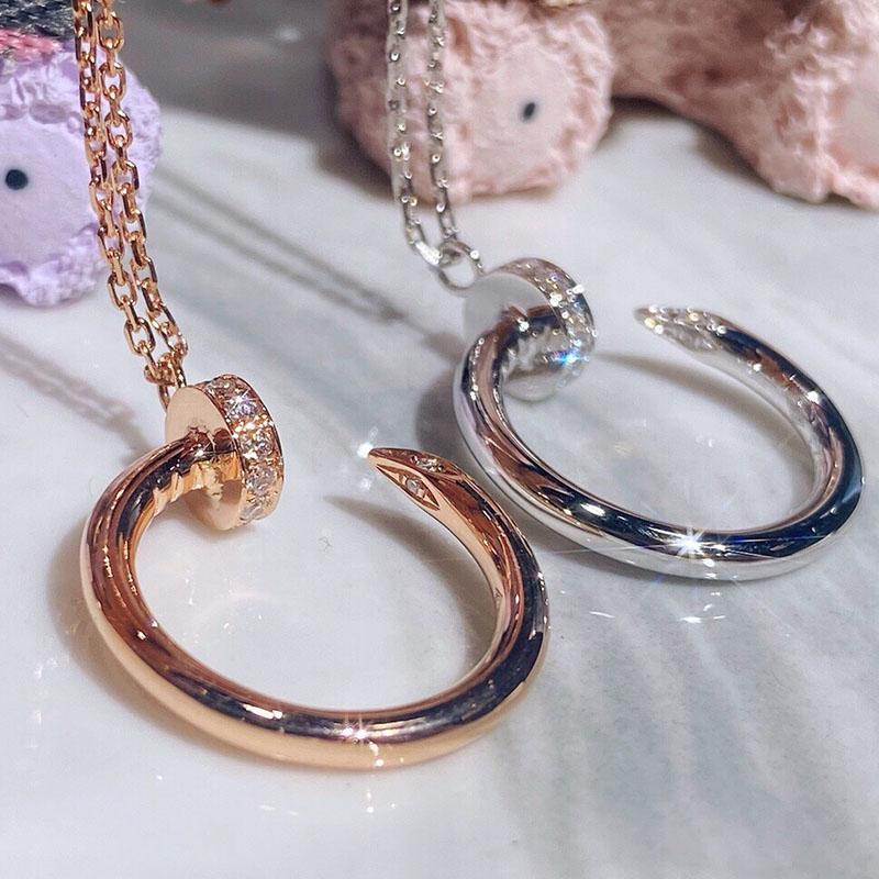 Diamond Collana Donna Designer Gioielli Gioielli Anniversario Presente per matrimonio Crooked Nail Womens Gold Collana Cross Collana Donne 2021050710xv