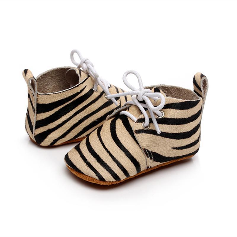 정품 가죽 아기 모카신 패션 레오파드 스웨이드 유아 첫 번째 워커 유아용 신발 실내