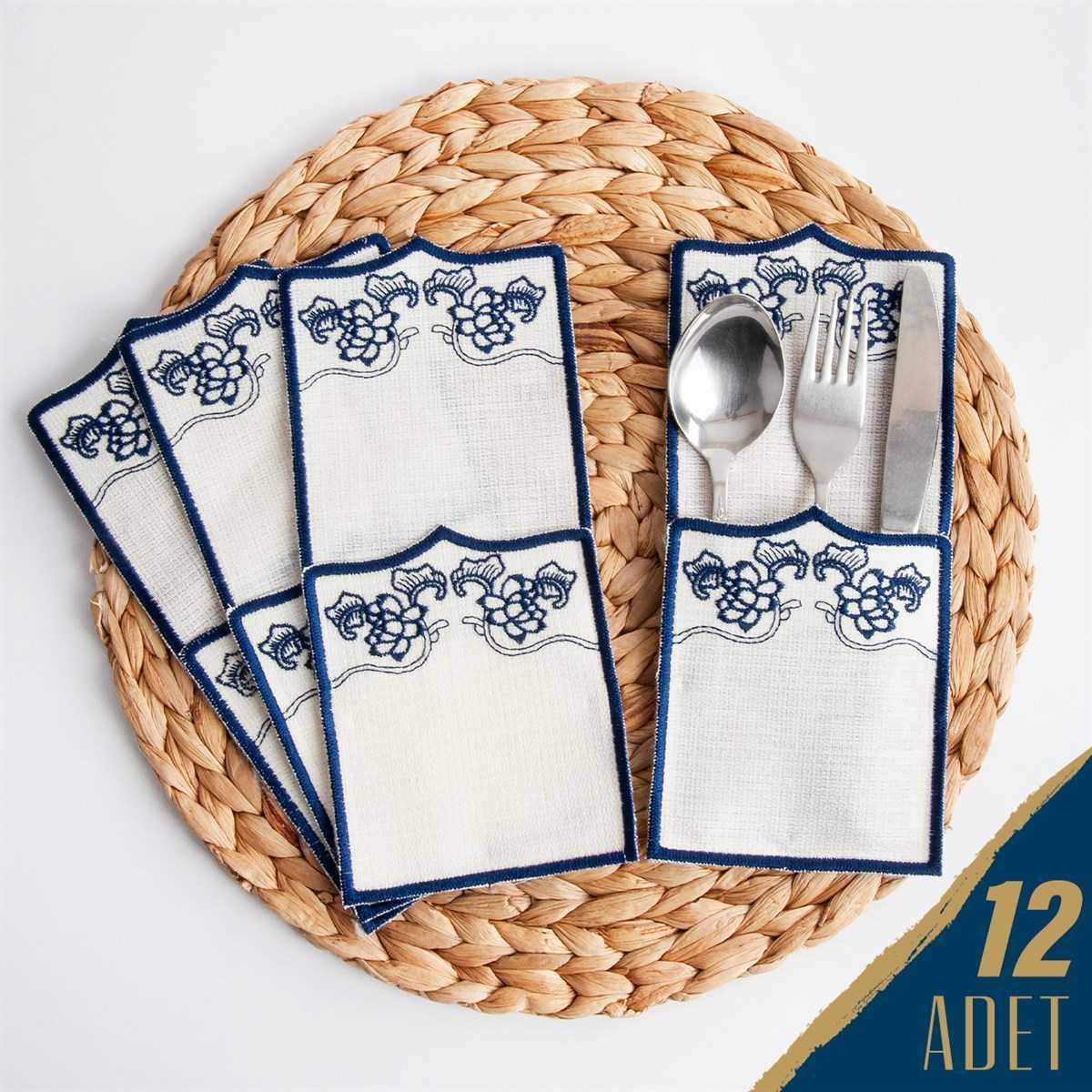 Linen Cotton Set of 12 special handmade table spoon serving accessories Dinner Napkin Party Decoration tablecloth High end