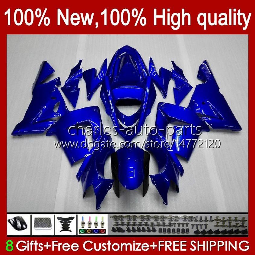 Body Kit OEM voor Kawasaki Ninja ZX1000C ZX 10 R 1000 CC ZX1000 04-05 Carrosserie 9NO.12 ZX 10R 1000CC ZX10R 04 05 ZX-10R ZX1000CC 2004 2005 Motorfiets Fabrieksfabriek Blauw