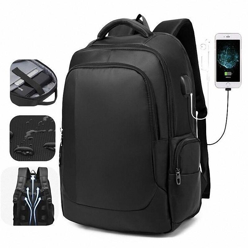 Mochila 2021 Anti-ladrón Hombres Manos Multifuncionales Impermeable Impermeable 17 pulgadas Portátil Bolsa de Laptop Man USB Viajes de carga