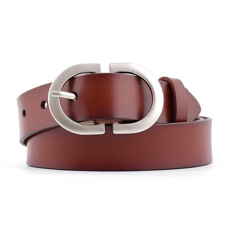Desinger المرأة واسعة أسود أحمر براون جلد طبيعي حزام الذكور الإناث الفضة مشبك أحزمة للنساء الرجال الجينز السراويل 210630