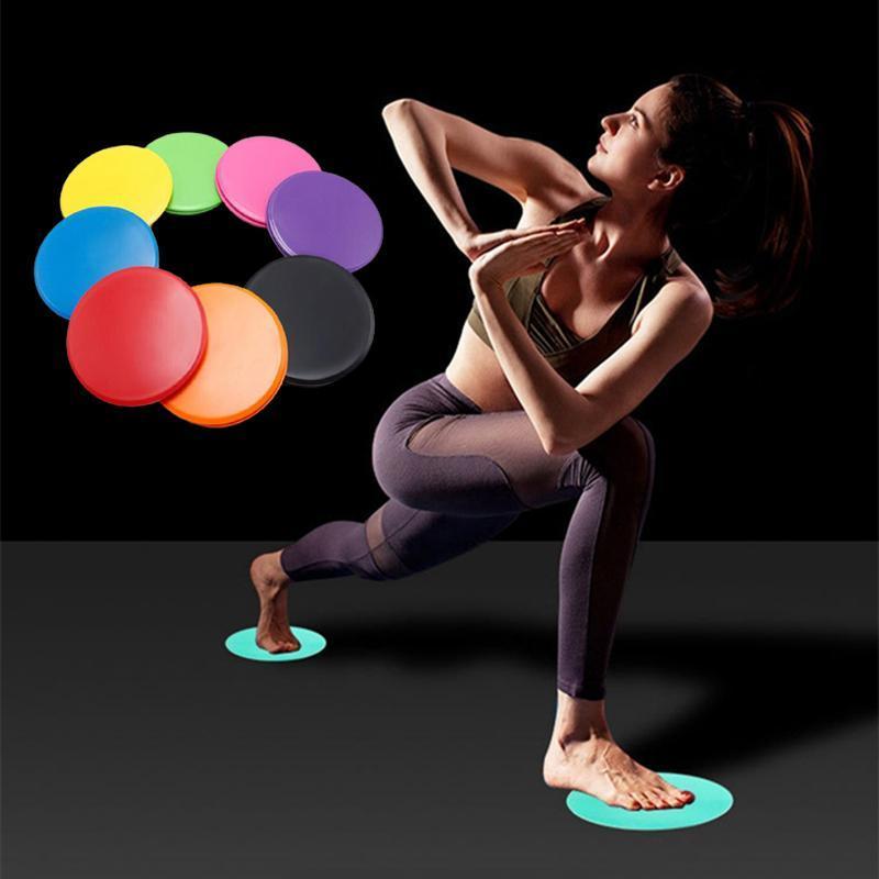 1pair Gling Disques Anti-Slip Fitness Disc Exercice Plaque coulissante Résistant à l'abrasion Résistant à l'abrasion Core abdominal Equipement d'entraînement Accessoires