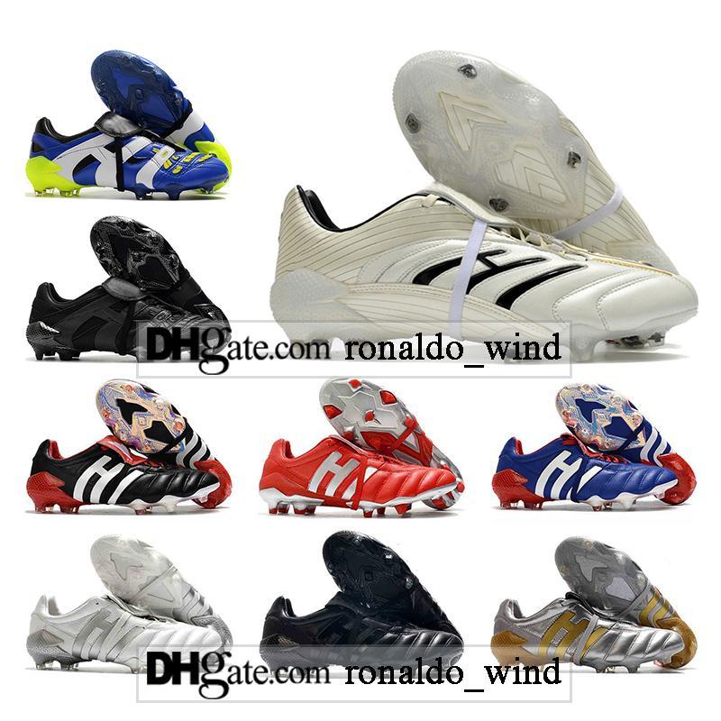 Saco de Presente Mens Alto Tops Botas de Futebol Prevoso Mutador Mania FG Cleaves Beckham Precision Accelerator Absolute 20 Ao Ar Livre Edição Limitada Arquivo Sapatos de Futebol